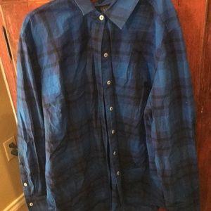 Lane Bryant size 18 blue plaid shirt! Nice shirt